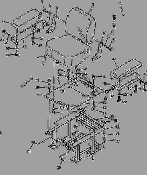 OPERATOR'S SEAT (RIGID TYPE) (NOISE SUPPRESSION FOR EC