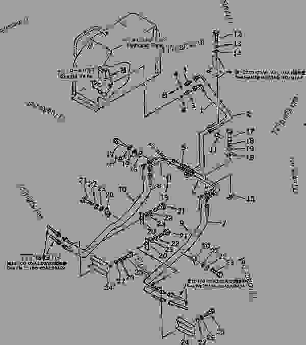 HYDRAULIC PIPING (TILT CYLINDER LINE) (CHASSIS SIDE) (FOR