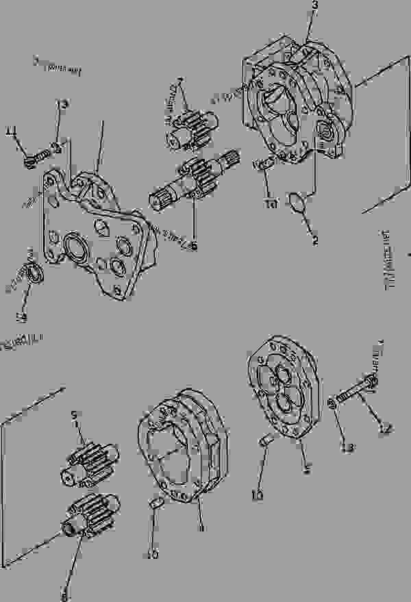 HYDRAULIC PUMP (TRANSMISSION AND PTO LUBRICATION)(#15001