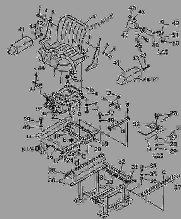 OPERATOR'S SEAT (WITH OIL DAMPER) (NOISE SUPPRESSION FOR