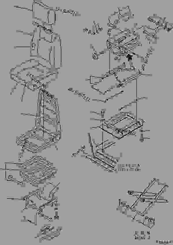 OPERATOR'S SEAT (RECLINING TYPE) (FABRIC SEAT) (WITH HEAD