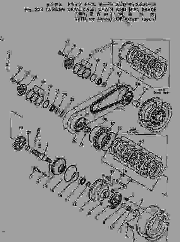 TANDEM DRIVE GEAR AND CHAIN (STD? FOR JAPAN) (OP? EXCEPT