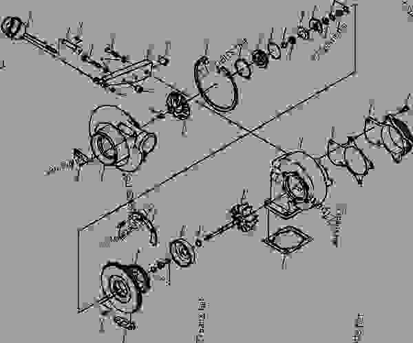 1304 937 H91 TURBOCHARGER KIT (HX40W WASTEGATE