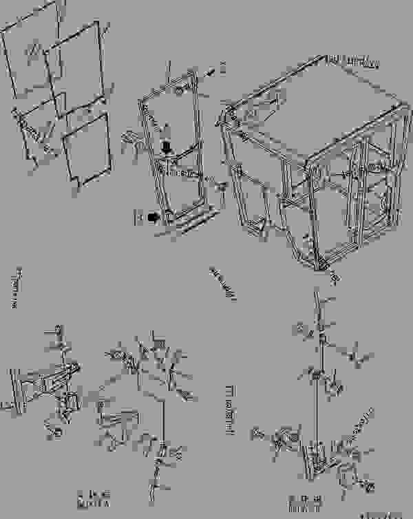 OPERATOR'S CAB (DOOR INNER PARTS? R.H.) (LOW ROPS CAB