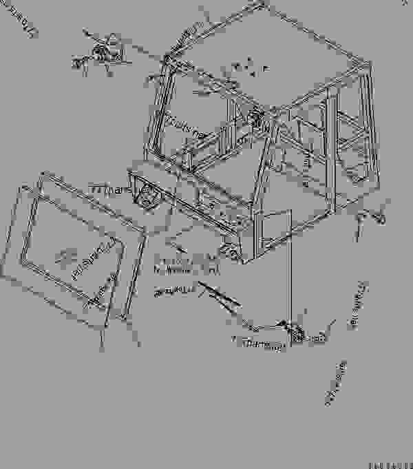 CAB SUB ASS'Y (OPERATOR'S CAB) (CAB AND FRONT PARTS