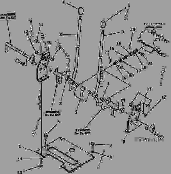 Caterpillar Wheel Loader Controls Diagram, Caterpillar