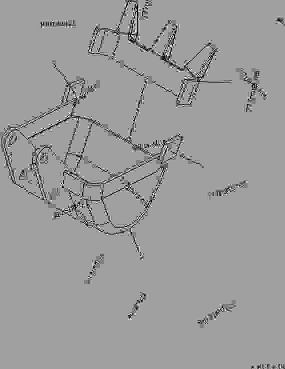 BUCKET (0.022M3) WIDTH 350MM (BREAKER ARM SPEC