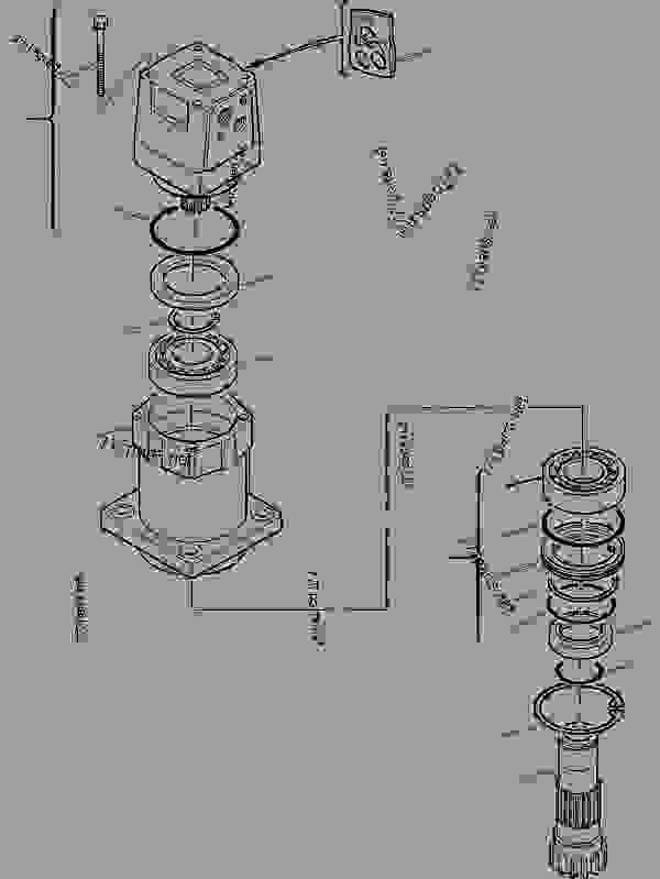 Komatsu Pc200 7 Excavator Parts Swing Motor Swing Device