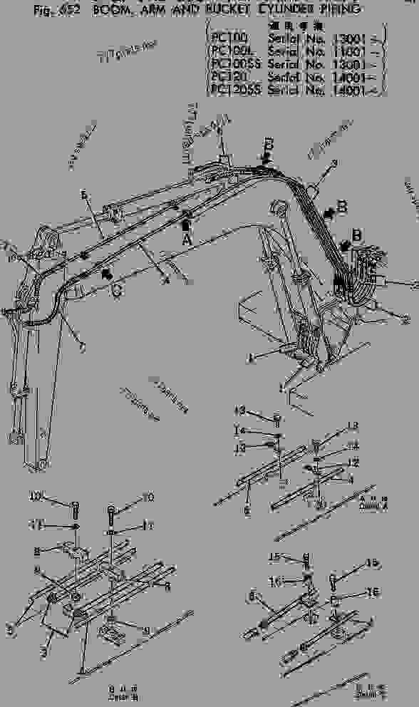 HYDRAULIC PIPING (BOOM? ARM AND BUCKET CYLINDER