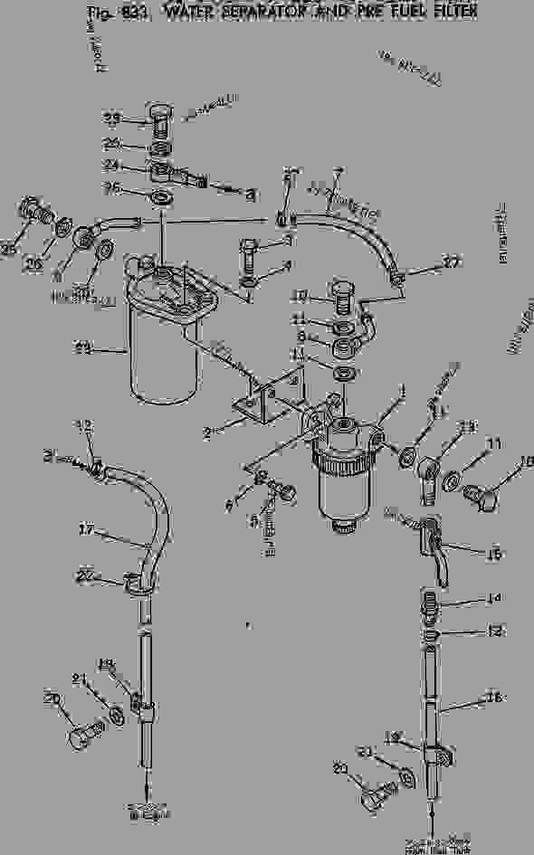 komatsu fuel filter part