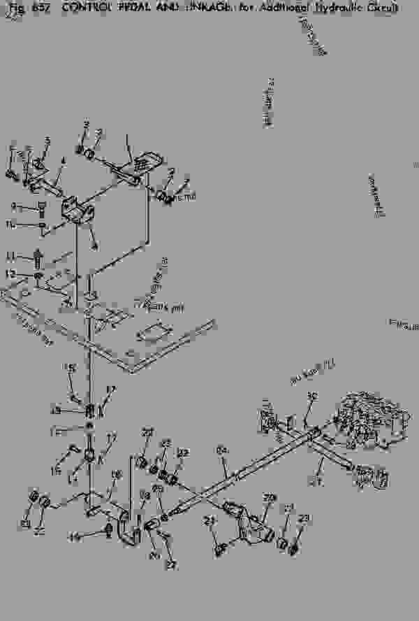 CONTROL PEDAL AND LINKAGE FOR ADDITIONAL HYDRAULIC CIRCUIT