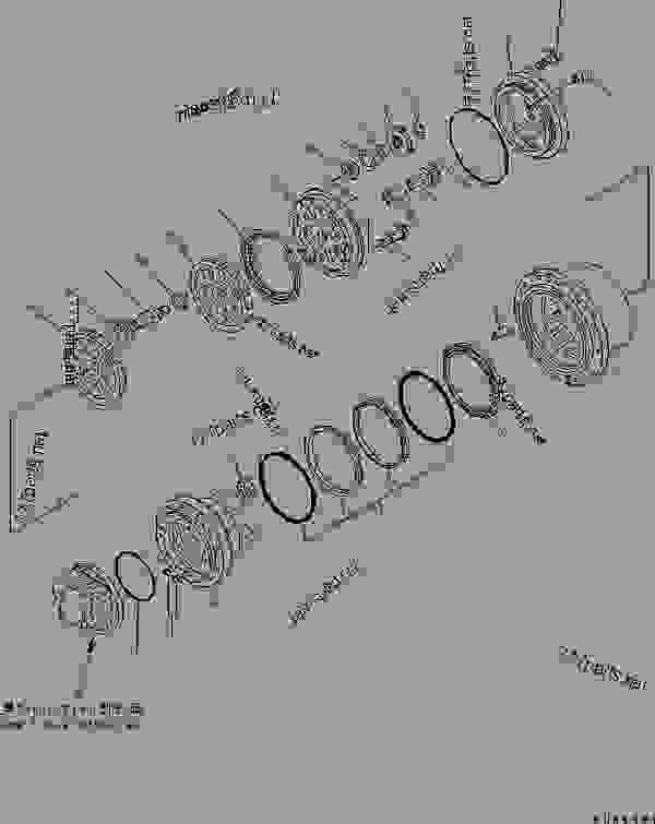 TRAVEL M0TOR (FINAL DRIVE ASS'Y) (GM18VL TYPE)(#52401