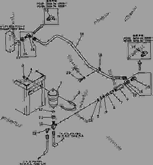 HYDRAULIC PIPING (VALVE TO ACCUMULATOR) (FOR WRIST CONTROL