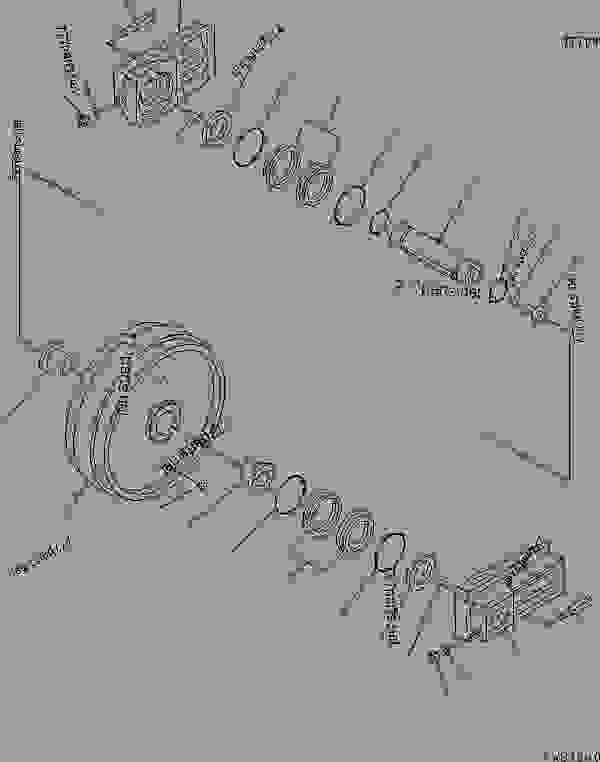 TRACK FRAME (FRONT IDLER) (L.H.) (COLD WEATHER A SPEC