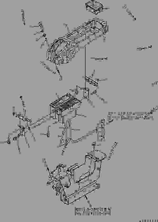FLOOR FRAME (OPERATOR'S CAB) (CONSOLE? L.H.) (UPPER) (FOR