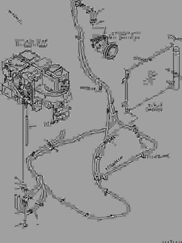 FLOOR FRAME (OPERATOR'S CAB) (AIR CONDITIONER HOSE