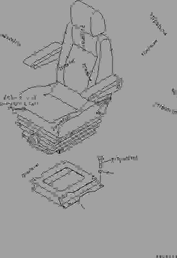 OPERATOR'S SEAT STAND (SUSPENSION TYPE) (FOR LOADER