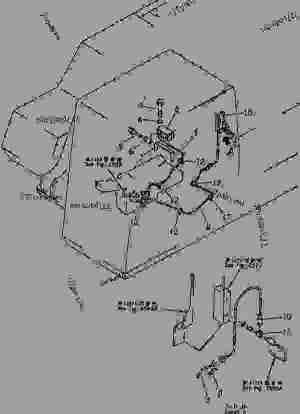TRAVEL ALARM WIRING (CHASSIS)  Hydraulic Excavator