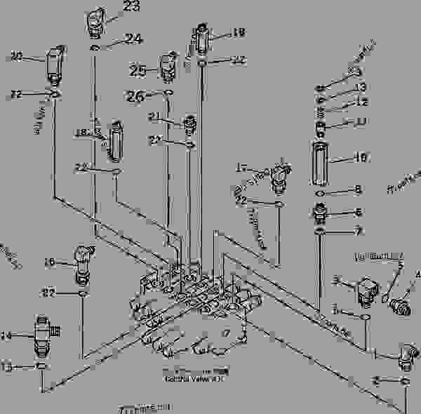 MAIN VALVE (ELBOW) (R.H.) (FOR POWER TILT MECHANICAL ANGLE
