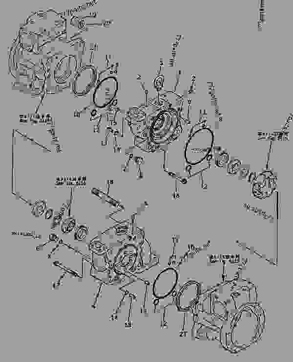 HYDRAULIC PUMP (5/16) (PUMP SUB ASS'Y) (4/6)(#20001