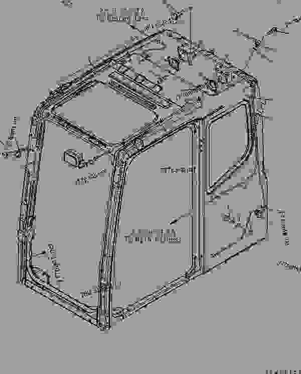 FLOOR FRAME (OPERATOR'S CAB) (ELECTRICAL) (RADIO HARNESS