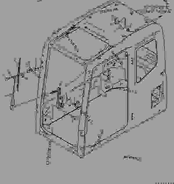 FLOOR FRAME (OPERATOR'S CAB) (ELECTRICAL) (WIPER AND ROOM