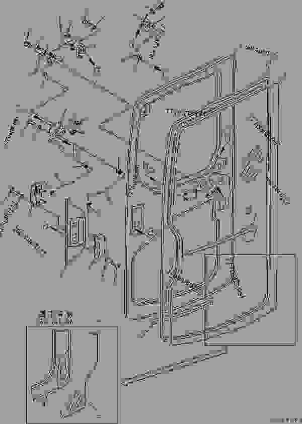 OPERATOR'S CAB (DOOR 1/2) (FOR TBG AND EC SPEC.)(#9756