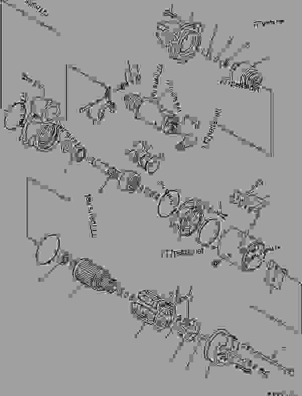 STARTING MOTOR? R.H. (7.5KW) (INNER PARTS)(#11763-11947