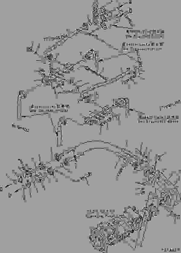 STEERING HYDRAULIC LINE (STEERING VALVE LINE 2/2)(#50003