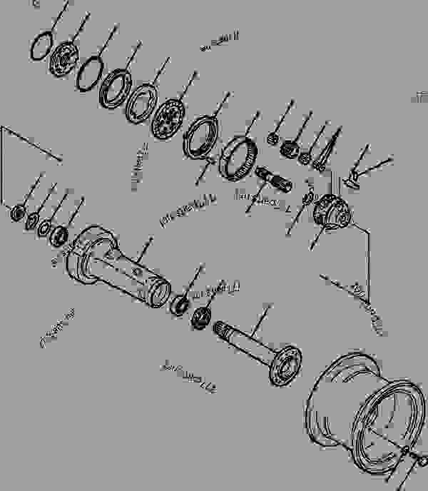 AXLE ASSEMBLY FRONT AND REAR FINAL DRIVE AND WHEEL BRAKE