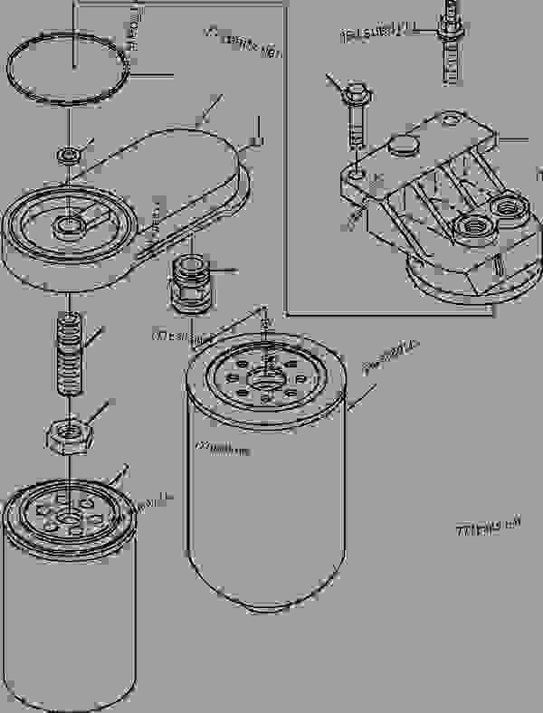 fuel filter head ci 400 1 dimension