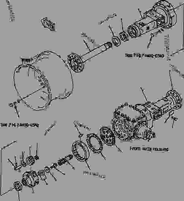 FIG NO. F4400-01A0 FRONT AXLE (FINAL DRIVE AND HOUSING