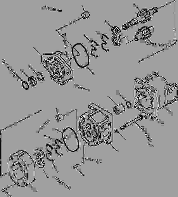 FIG NO. Y1600-01A0 HYDRAULIC PUMP TRANSMISSION (1/2
