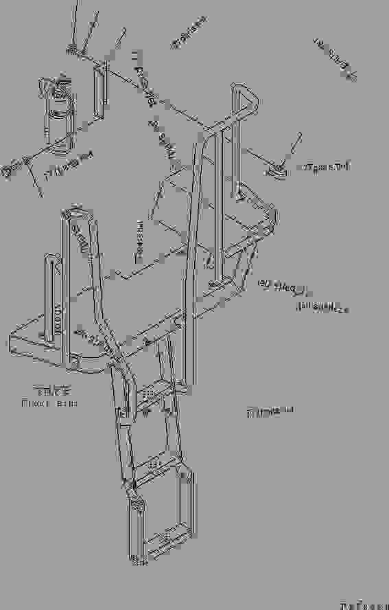 HAND RAIL (FIRE EXTINGUISHER BRACKET) (TUNNEL SPEC