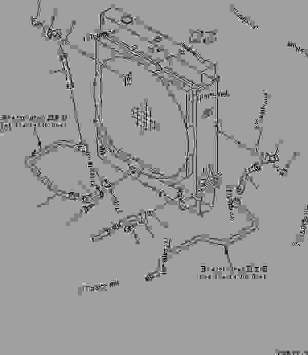 RADIATOR (TORQUE CONVERTER OIL COOLER PIPING) (FOR EC