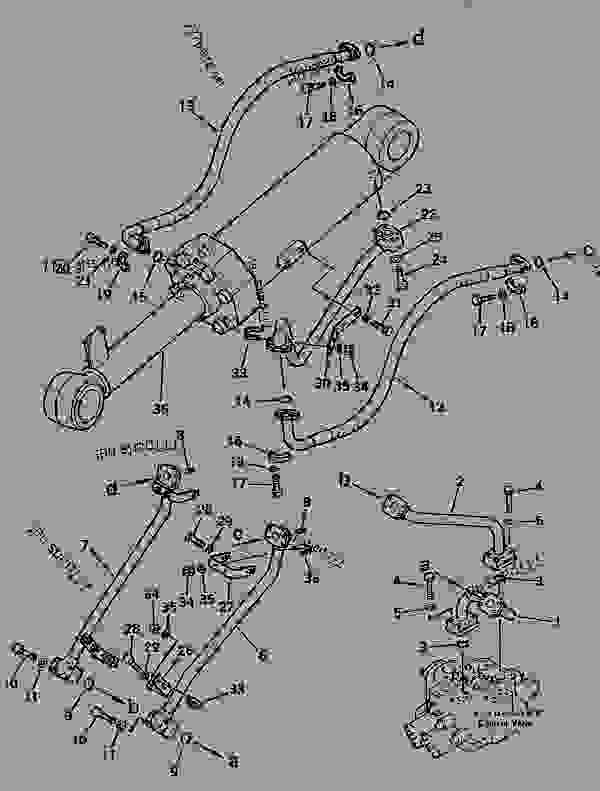 HYDRAULIC PIPING (DUMP CYLINDER LINE)(#10001-19999