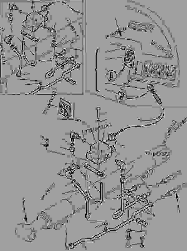 HYDRAULIC PIPING (SHOVEL LIFTING CYLINDER) (ELECTRIC