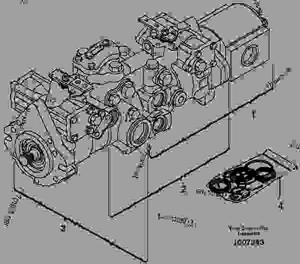 Komatsu Hydraulic Pump Parts Diagram, Komatsu, Free Engine