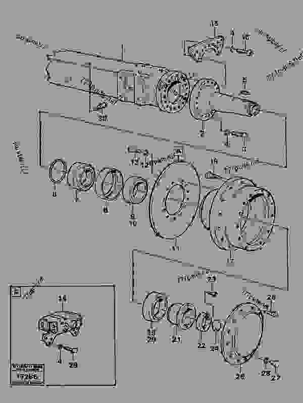 Bogie-wheel axie with hubprod nr 37004 Tillv Nr 1800