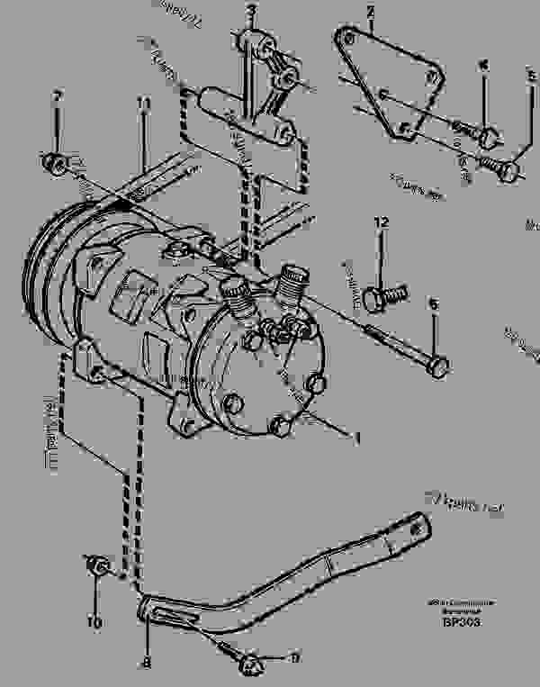 Compressor for cooling agent R134a with fitting parts
