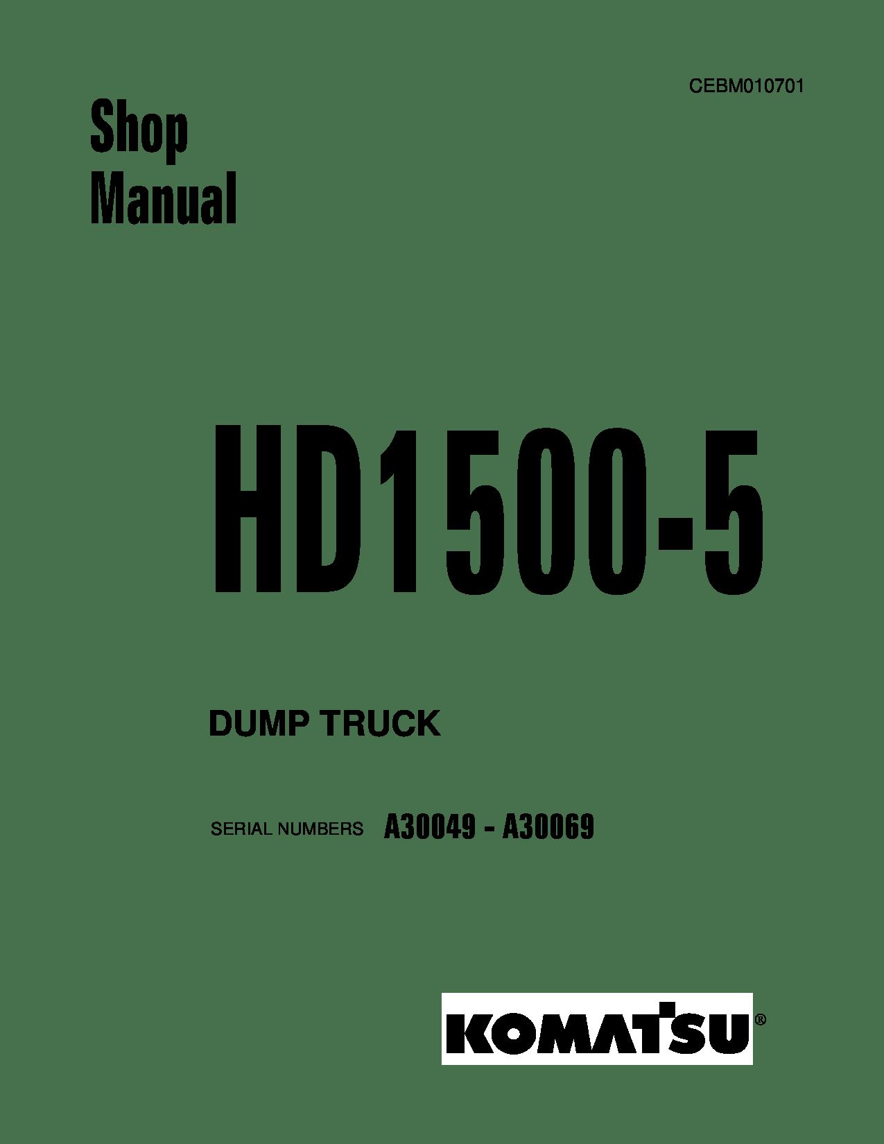 Komatsu HD1500-5 Operation and Maintenance Manual