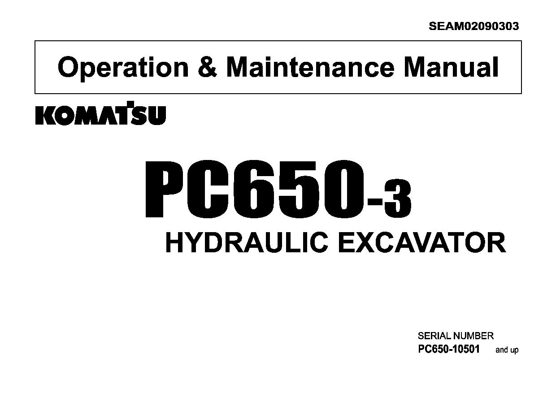 Komatsu PC650-3 Operation and Maintenance Manual