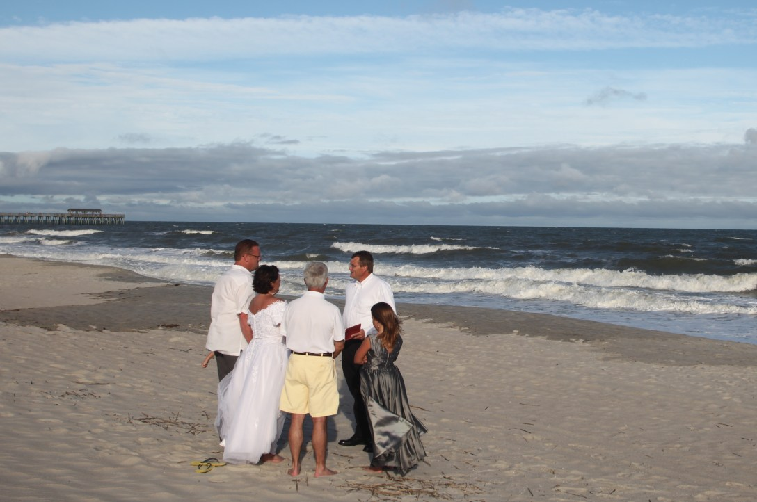 Wedding photography on the beach