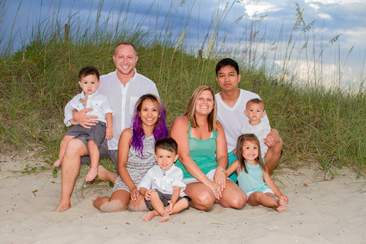 Large family pics at the beach