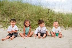 Little kids at the beach
