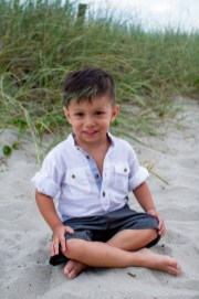 School pics on the beach