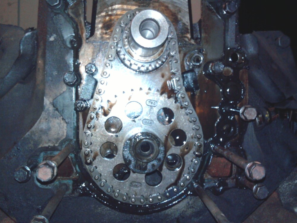 medium resolution of now you ve taken off the timing cover that exposes the timing chain and gears notice i m still putting the bolts back in the holes they came out of so i