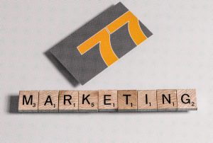 Marketing Tiles image with 77 Design Co business card.