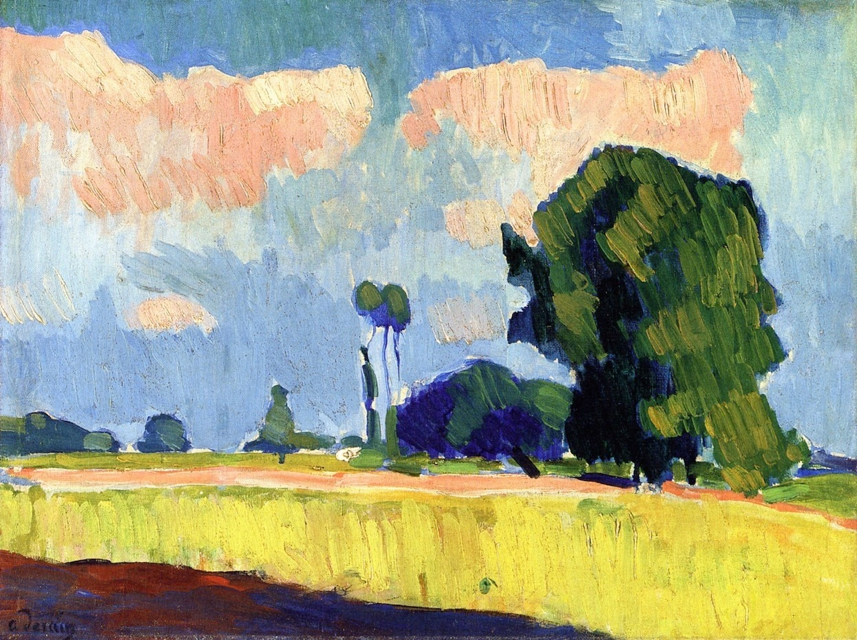 André Derain (French, 1880 - 1954) Near Châtou c.1900 oil on canvas 39.7 x 53.4 cm Private collection