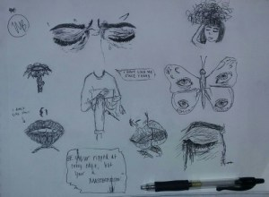aesthetic drawings sad pen grunge drawing